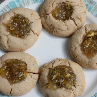 Zucchini Bread Jam Thumbprint Cookies