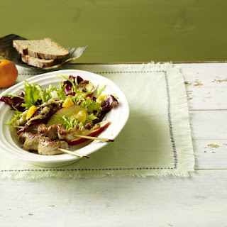 Pork Skewers with Winter Salad