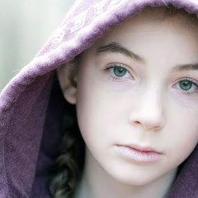 Paige by Sandy Considine - Babies & Children Child Portraits ( braids, green eyes, young girl )