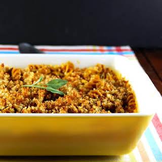 Vegan Butternut Squash Pasta Bake for Two.