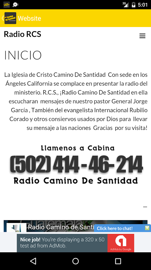 Radio Camino de Santidad- screenshot