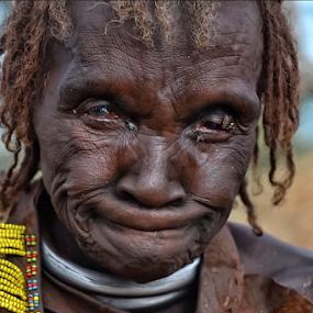 Not Easy Life. by Marcel Cintalan - People Portraits of Women ( sorrow, old woman, ethiopia, portrait, eyes,  )