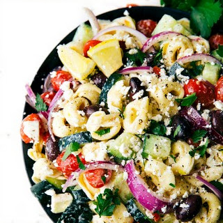 Easy Greek Tortellini Pasta Salad.