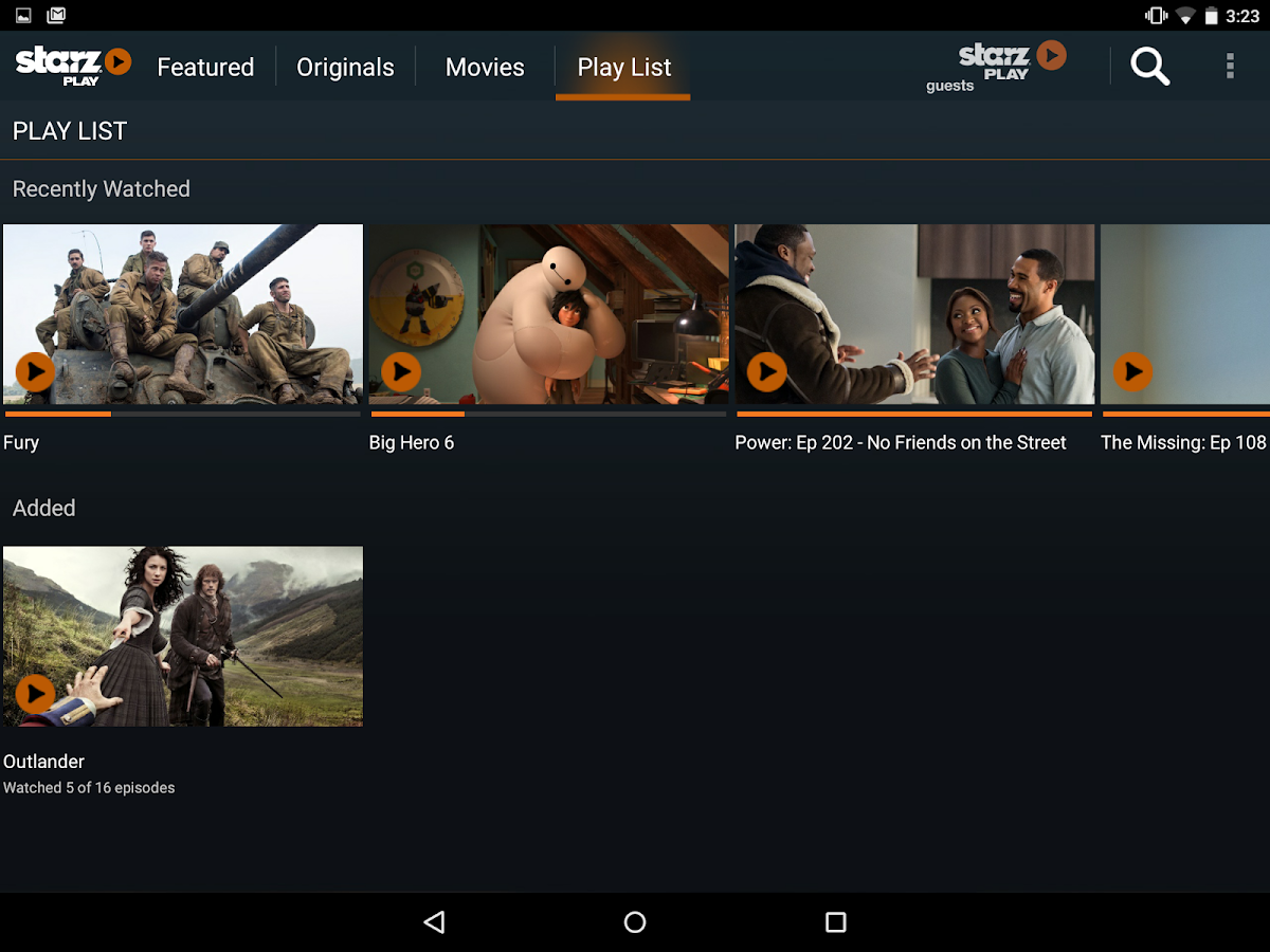 STARZ Play- screenshot
