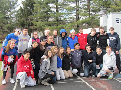 Runners at the One-Mile Burrito Run, Wootton High School, November 27, 2010