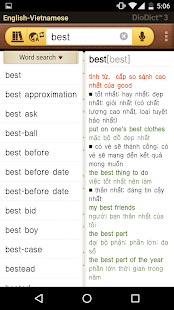 English–Vietnamese dictionary- screenshot thumbnail
