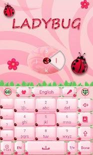 Cute-Ladybug-GO-Keyboard-Theme 2