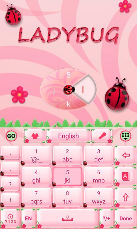 Cute-Ladybug-GO-Keyboard-Theme 9