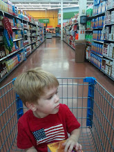 Photo: We headed to Walmart to buy some treats for a birthday celebration. We were going to have a tropical theme and enjoy TCBY frozen yogurt in cones.