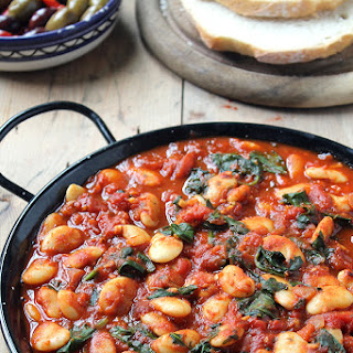 Spanish Beans with Tomatoes.