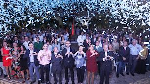 Foto de familia tras la presentación del dossier de la candidatura almeriense.