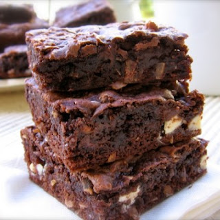 Easy Skinny Chocolate Coconut Cake Mix Cookie Bars.
