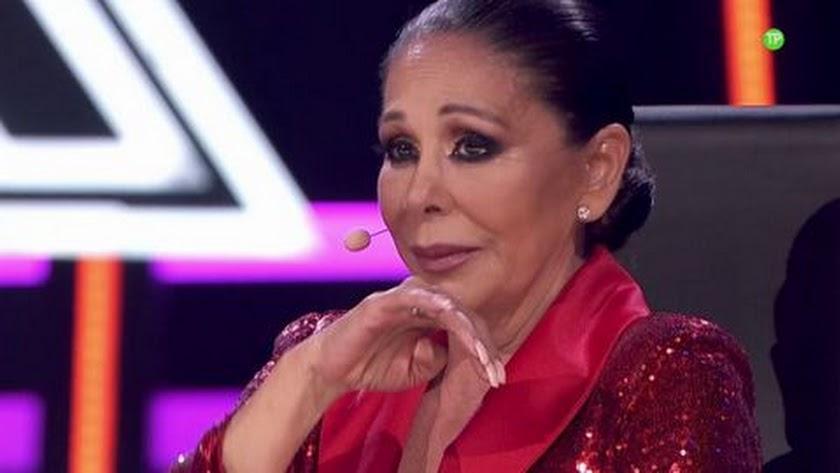 Isabel Pantoja, en la final de \'Top Stars\'. Foto de Telecinco.