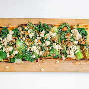 Charred Greens & Feta Flatbread