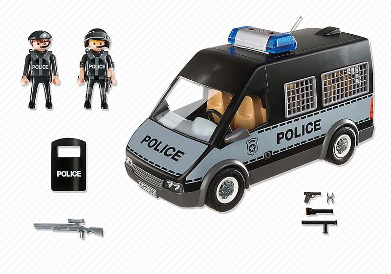 Contenido real de Playmobil® 6043 Furgón de Policía