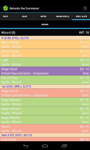 d20 Character Sheet screenshot 8
