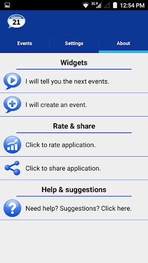 Talking Calendar Reminder app  screenshots 4