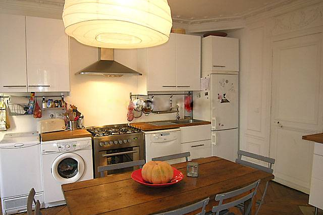 Kitchen at 3 bedroom Apartment Rue Du Cherche Midi, St Germain