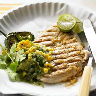 Lime-Marinated Chicken and Tomatillo-Corn Salsa