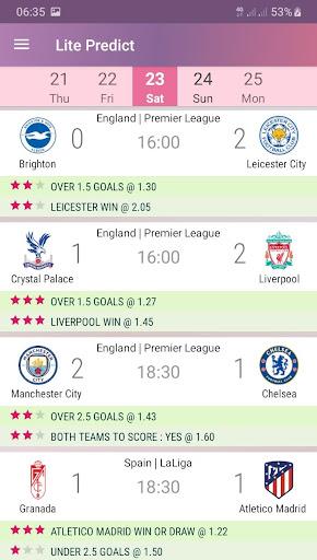 Lite Predict - Football Prediction Tips Version 4.1 Wing screenshots 2