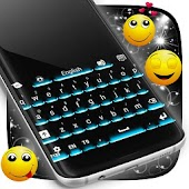 Neon Theme Keyboard Phone