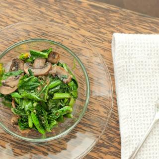 Chinese Broccoli with Mushrooms - Gau Lon