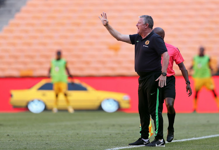 Gavin Hunt, head coach of Kaizer Chiefs during the DStv Premiership 2020/21 match between Kaizer Chiefs and Supersport United at the FNB Stadium, Johannesburg on the 20 February 2021