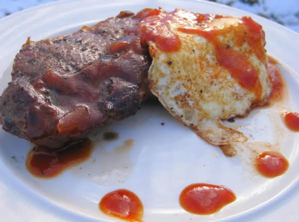 Grilled Steak And Eggs With Homemade Lager Bbq Sauce