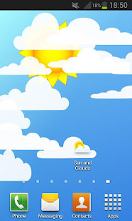 Sun and Clouds Free Live Wallpaper 2