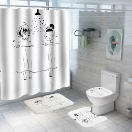 Set pentru baie: perdea, covorase si husa de toaleta, Kids