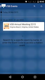 Virginia State Bar Events - screenshot thumbnail