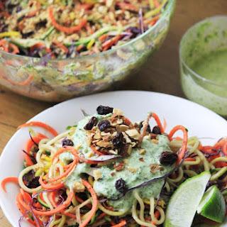 Spiralized Salad with Cilantro Dressing