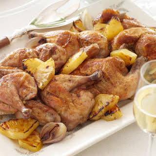 Baked Pineapple Chicken with Candied Ginger.