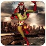Super Captain Girl: American First Avenger Hero Icon