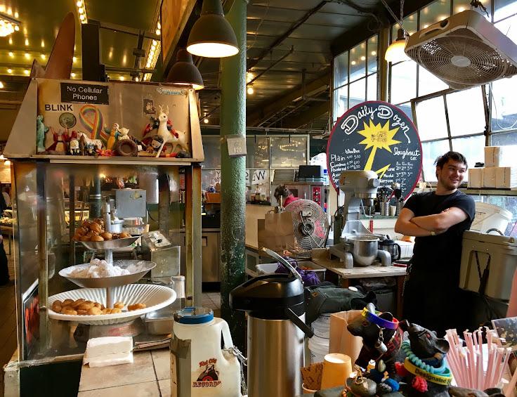 Where the magic happens at the Daily Dozen Doughnut Company.