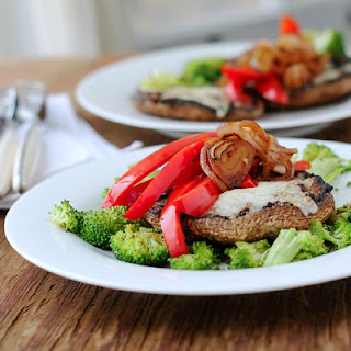 Broiled Portobello Mushroom with Toppings