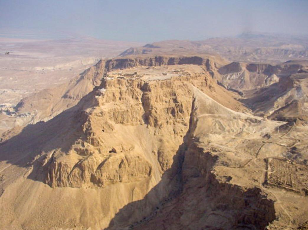 Masada with View of Roman Ramp