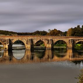 The old bridge by Orkidea W. - Buildings & Architecture Bridges & Suspended Structures ( galicia, autumn, orkidea, bridge, travel, nikon, roman, photography,  )
