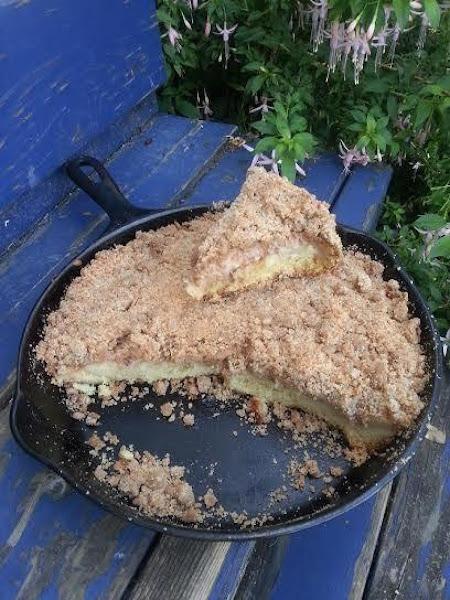 Fresh Peach Crumb Coffee Cake Recipe