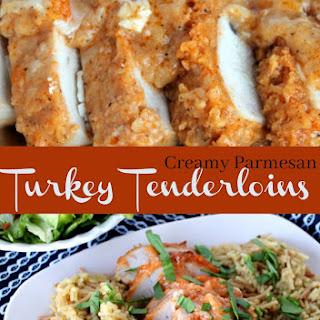 Creamy Parmesan Baked Turkey Tenderloins.