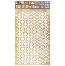 7 Gypsies Architextures Adhesive Tall Base 9X6 - Triangle Grid  UTGÅENDE