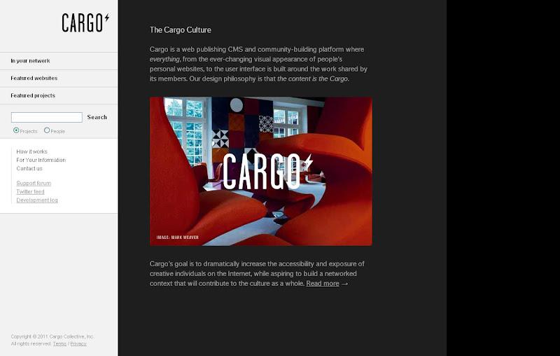 Crie portfolios profissionais de graca procurando a cereja for Cargo collective templates