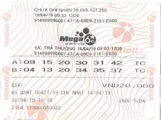 Tấm vé số cho khách hàng