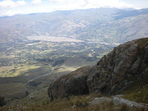 Photo: A view of Huaraz from above.