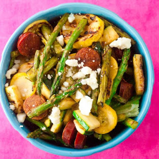 Chorizo And Grilled Vegetable Salad