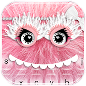 (FREE) Pink Furry Monster Keyboard Theme