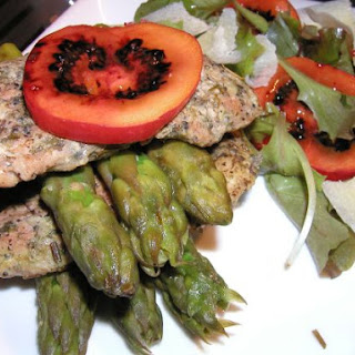Pork Cutlets with Asparagus and Tamarillo
