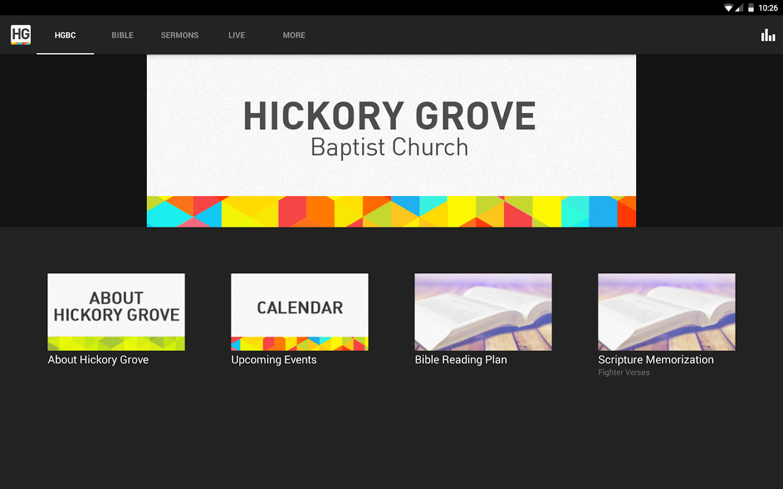 Hickory Grove Baptist Church - screenshot