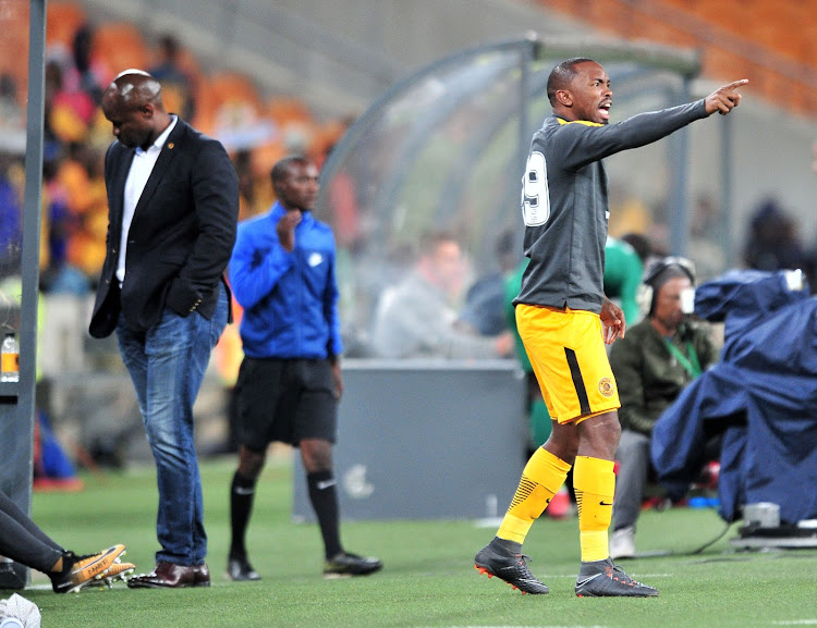 Bernard Parker of Kaizer Chiefs reacts from the bench and Steve Komphela, coach of Kaizer Chiefs looks down during the Absa Premiership 2017/18 match against AmaZulu at FNB Stadium, Johannesburg on 17 March 2018.