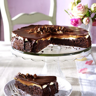 Chocolate and Nut Brittle Tart